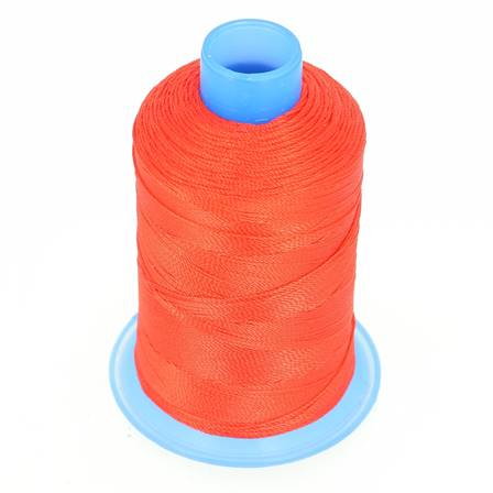 Bobine de fil polyester retors N° 30 - 400 mètres - ROUGE