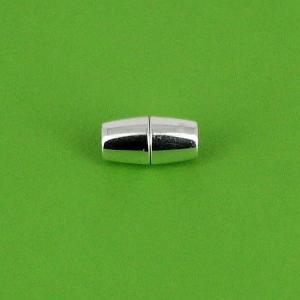 Fermoir bijou - Cylindres conique aimanté - Argent - Lacet rond 5 mm