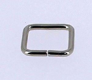 Passant rectangulaire - NICKELE - 20x17 mm - Fil 3 mm
