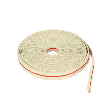 Ruban galon polyester BEIGE et ROUGE - Largeur 10 mm - 5 mètres