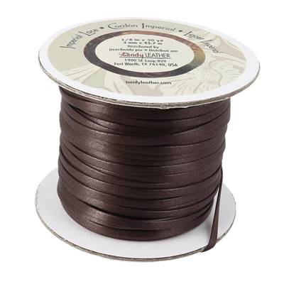 Bobine de 45 mètres de lacet synthétique IMPERIAL - 3 mm - MARRON - Tandy Leather
