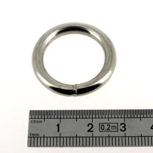 Anneau rond soudé - acier NICKELE - 20 mm - Fil 4 mm