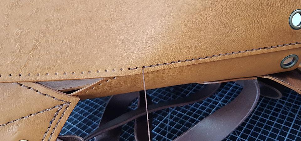Guide débutants | Couture du cuir à la main dite simplifiée - Couture à trous