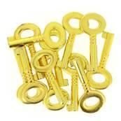 Lot de 50 clés d'embellissement - DORÉ