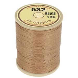 Bobine fil de lin au chinois câblé glacé - 532 - BEIGE 185