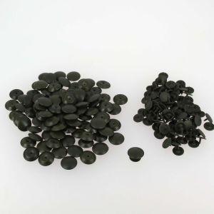 Lot de 100 boutons à clou - VERT OLIVE - 13 mm