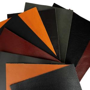 Lot SURPRISE de 10 morceaux de cuir DIVERS de dimension 15x20 cm - NOIR et MARRON