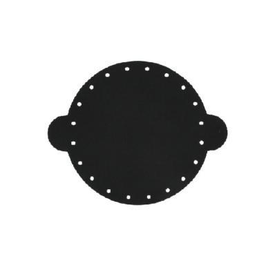 Cuir déja coupé pour faire une bourse en cuir NOIR - Diamètre 14,5 cm