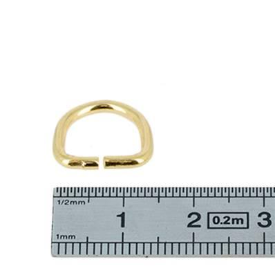 Anneau demi rond - acier DORÉ - 10x10x2 mm