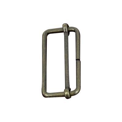 Boucle coulissante - Laiton vieilli - 35 x 14 mm - Fil 2,4 mm