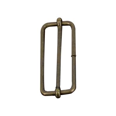 Boucle coulissante - Laiton vieilli - 40 x 14 mm - Fil 2,4 mm