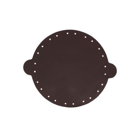 Cuir déja coupé pour faire une bourse en cuir de cerf CHOCOLAT - Diamètre 20 cm