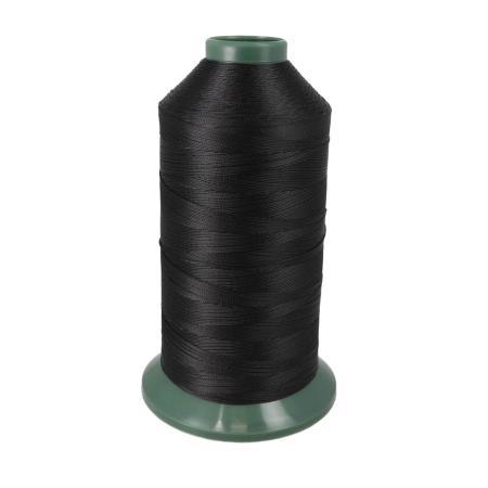 Bobine de fil polyester retors N° 20 - 1500 mètres - Noir