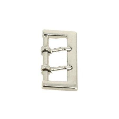 Boucle de ceinture à double ardillon - NICKELÉ - 24 mm