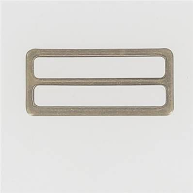 Passant double rectangulaire et plat - Laiton Vieilli - 40 mm