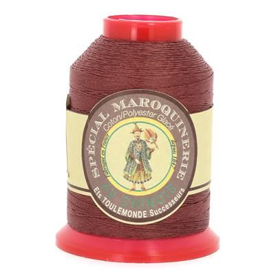 Fil Spécial Maroquinerie polyester coton - 28/3 - 0,45 mm - BRIQUE