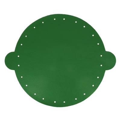 Cuir déja coupé pour faire une bourse en cuir VERT - Diamètre 25 cm