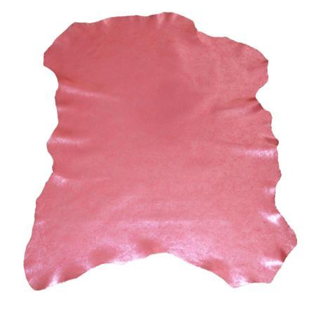 Peau de cuir de chèvre velours effet métallisé - FRAMBOISE C62