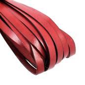 20 cm de lacet en cuir ROUGE - largeur 10 mm