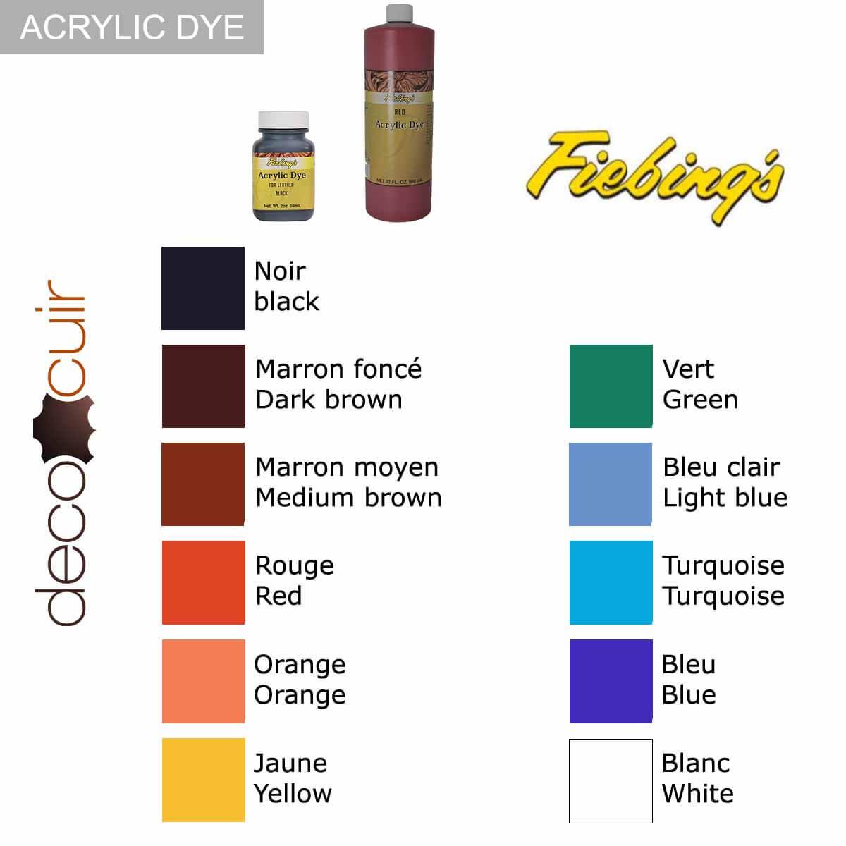 Peinture opaque - Fiebing's Acrylic Dye - JAUNE / YELLOW - 59ml