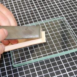 Lissoir en verre trempé