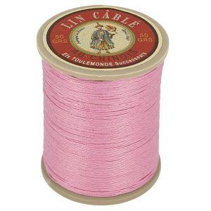 Bobine fil de lin au chinois câblé glacé - 332 - ROSE BONBON 200