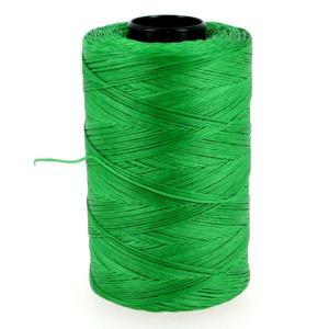Bobine de fil polyester tressé et ciré - 500 mètres - diam 0,8 mm - VERT CLAIR