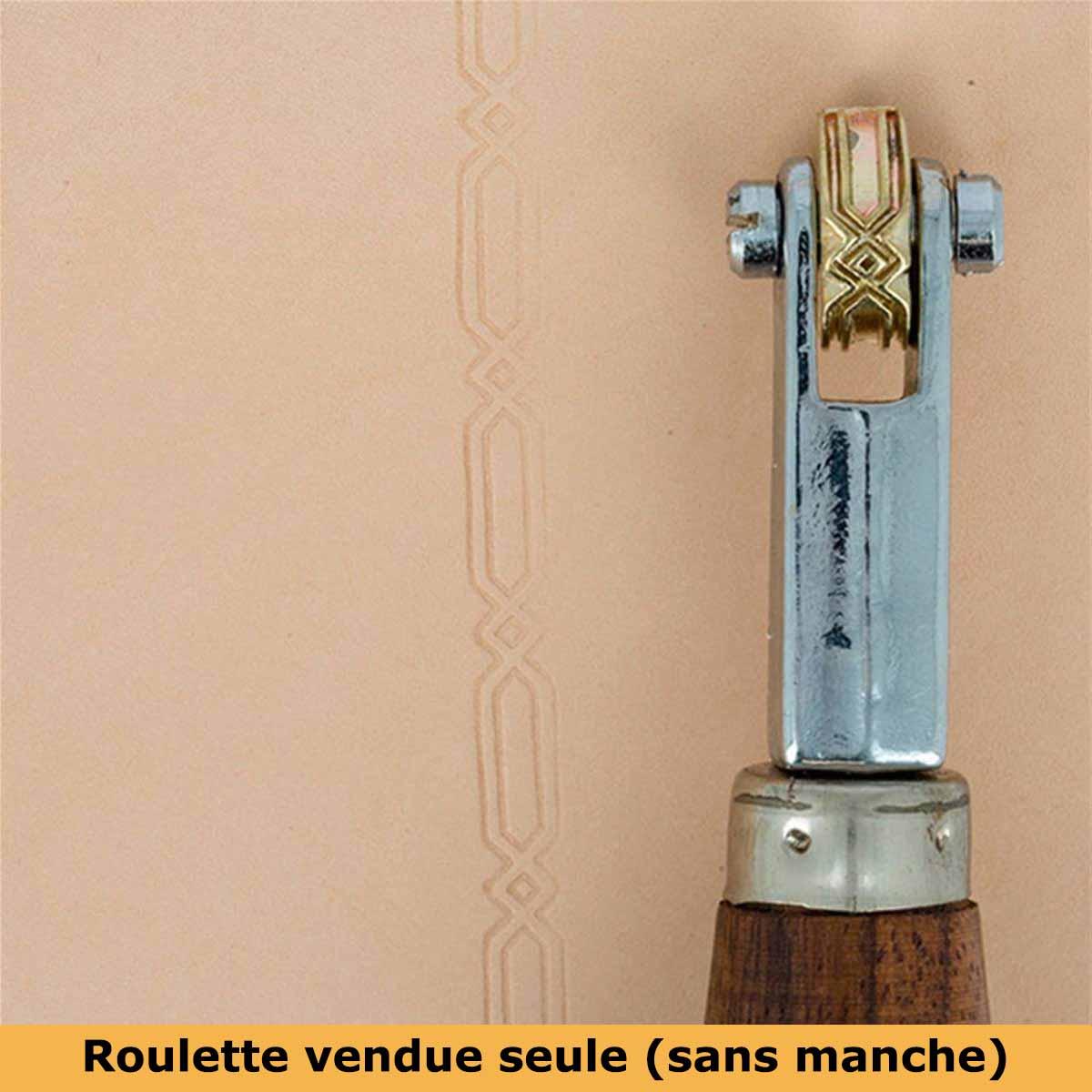 Roulette d'embossage 8091-05 montée sur manche