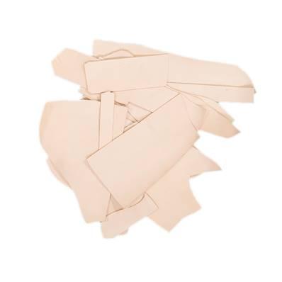 500 g de chutes de cuir de collet tannage végétal naturel CLASSIC - Ép 1,6 mm