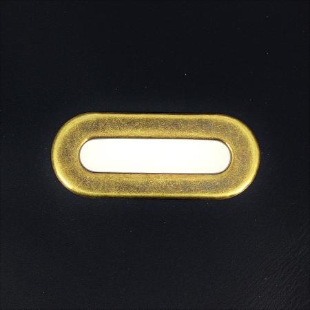 Lot de 5 œillets à griffe ovale - LAITON VIEILLI - 40x9 mm