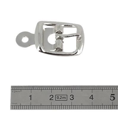 Boucle à ardillon avec chape - NICKELE - 14 mm