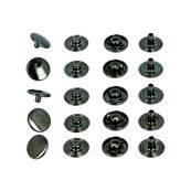 Lot de 100 boutons pression en laiton finition CANON DE FUSIL - diamètre 12 mm