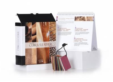 Collection CUIRS - Classeur de 25 fiches présentant 35 échantillons de cuirs