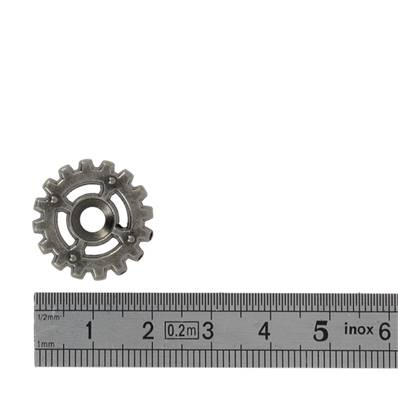 Concho ENGRENAGES STEAMPUNCK - ARGENT VIEILLI - 19 mm