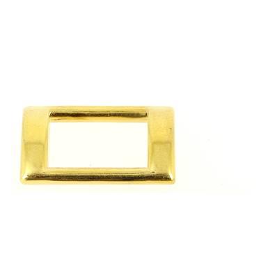 Passant rectangulaire plat - DORÉ - 15x10 mm