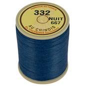 Bobine fil de lin au chinois câblé glacé - 332 - BLEU NUIT 667