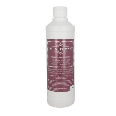 Lait nettoyant pour nettoyer, nourrir et lustrer le cuir - flacon de 500 ml