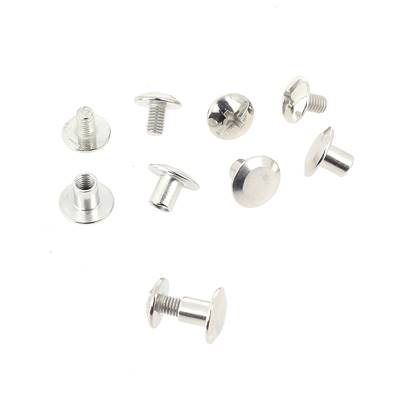 Lot de 5 Vis CHICAGO en laiton NICKELE - 9 mm de diamètre