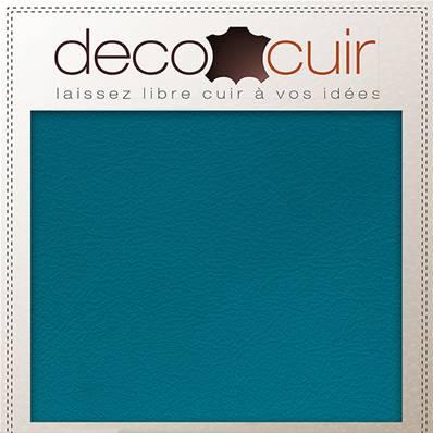 Morceau de cuir SWEET 2 - BLEU TURQUOISE - 20x30 cm - Ép 0,7 mm