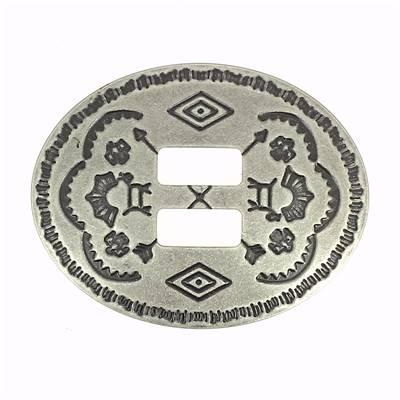6 Conchos à lacer CHEYENNE - 33x44 mm - Vieux Nickel