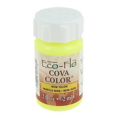 Peinture opaque à base d'eau - JAUNE FLUO - Cova Color Eco Flo n°30
