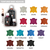 Teinture base aqueuse Deco Cuir - VIOLET - 1 litre