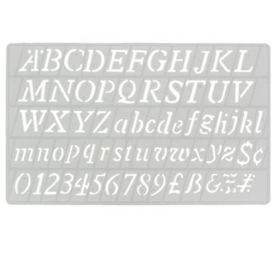 Trace-lettres - Majuscules, minuscules, chiffres et symboles en italique - Hauteur 20 mm