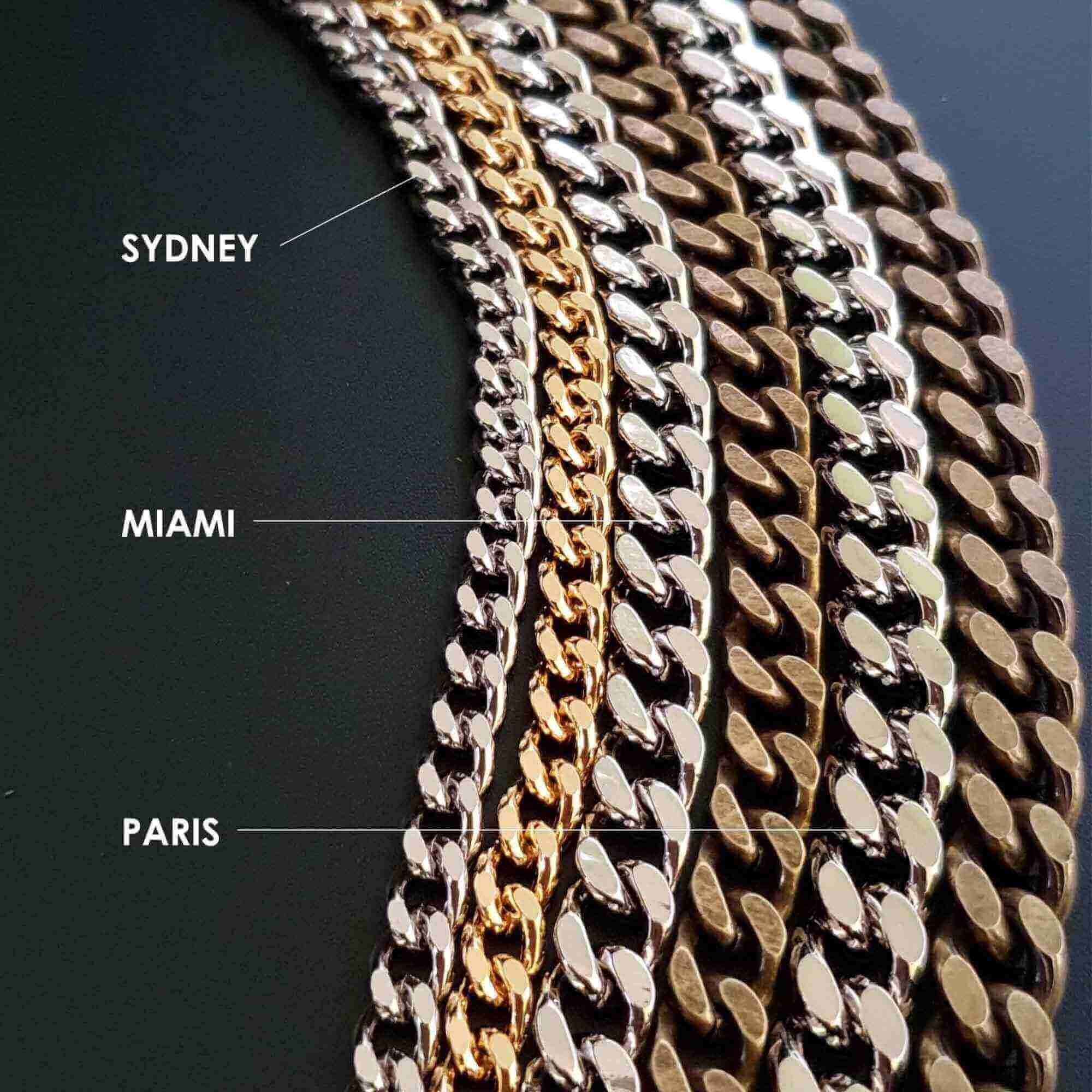 Chaîne de sac au mètre - Sydney - ARGENT VIEILLI - Les 10 cm
