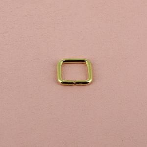 Passant rectangulaire - LAITON - 10 x 8 mm - Fil 2 mm