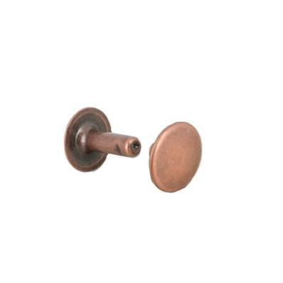 Lot de 100 gros rivets en laiton (T6) finition Vieux cuivre