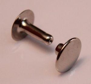 Lot de 100 gros rivets en laiton (T6) finition Nickelé