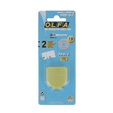 2 lames de rechange pour cutter rotatif diam 18 mm - Découpe en pointillés - OLFA PRB18-2