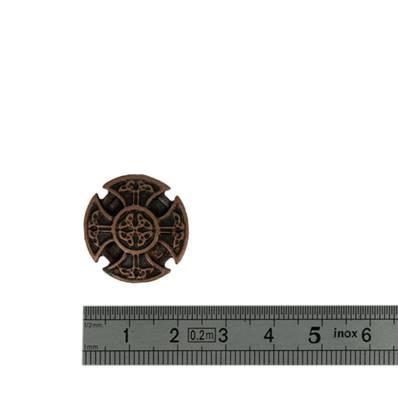 Concho CROIX RONDE - 22 mm - Vieux cuivre