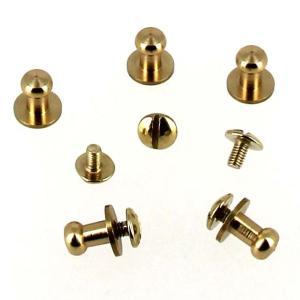 Lot de 5 boutons de col à vis T4 - Laiton avec vis 3x5mm